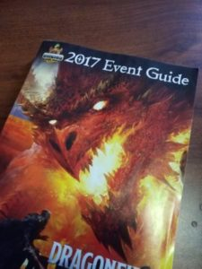 Event guide book cover Origins 2017
